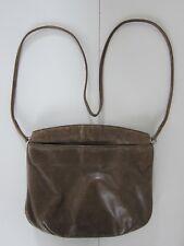 Vintage Modell Gold Pfeil Germany Brown Leather Satchel Crossbody Purse