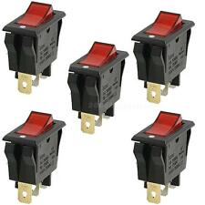 5x Red AC15A/250V 20A/125V ON-OFF 2 Position SPST Boat Rocker Switch 3 pins HYSG