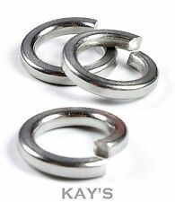 M4 SPRING LOCK WASHERS A2 STAINLESS STEEL SQUARE COIL SECTION METRIC PACK OF 50