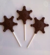24 Sherrif's Badge Chocolate pops made fresh to order