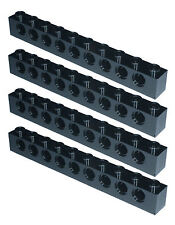 Missing Lego Brick 2730 Black x 4 Technic Brick 1 x 10 with Holes