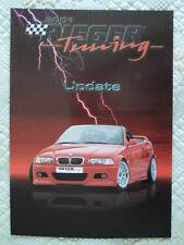 BMW Rieger Tuning GTR Coupe & Cabriolet 2001 BROCHURE PROSPEKT-M3 E46 3 Series