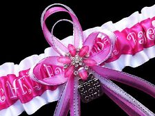 HOT Pink BACHELORETTE PARTY Wedding GARTER Girls Night Out BRIDAL Bride To Be