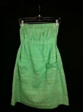NEW WITHOUT TAGS Lu Lu Lame Sea Green Strapless Dress Size 4 Petite