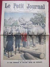 LE PETIT JOURNAL Supplément illustré 21 Juin 1914 n° 1231 Ferdinand de Bulgarie