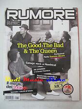 Rivista RUMORE 179 Teh Good The Bad & The Queen Sufjan Stevens Kylesa (*) NO cd