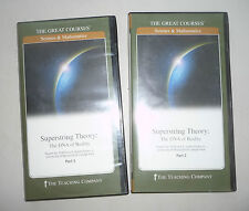 2 BOOKLETS + 4 DVD  SET TEACHING COMPANY SUPERSTRING THEORY PHYSICS DNA OF REALI