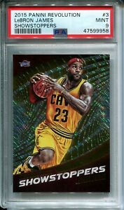 Lebron James 2015-16 Panini Revolution Showstopppers #3 1st Year PSA 9 MINT