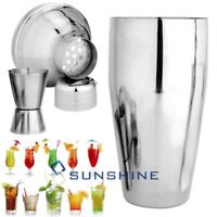 Stainless Steel Cocktail Shaker Mixer Drink Bartender Bar Tool Set&Measuring Cup