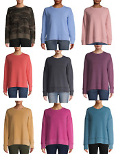 NEW WOMEN TIME & TRU OVERSIZED CREW NECK SWEATSHIRT MIX MATCH BUY MORE SAVE MORE