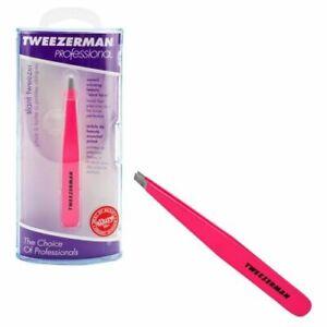 Tweezerman Professional Neon Pink Slant Tweezer #1230-NPP