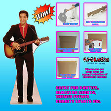 ELVIS RED SHIRT AND GUITAR LIFESIZE CARDBOARD CUTOUT STANDEE STANDUP