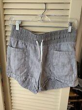 """Athleta Cabo Linen 4"""" Shorts Gray Size 2"""