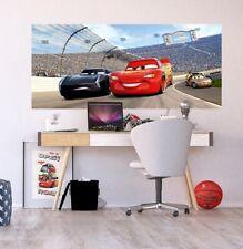 Wandbild Panoramisch Tapete Autos 3 Rennen 202x90cm Kinderzimmer Disney