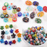 Lots 20Pcs Mixed Millefiori Geometry Loose Spacer Beads Jewelry Making Craft DIY