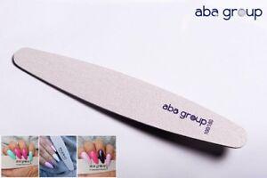 Nail Files Acrylic Gel Tips grits 100/180 - ELIPSE x 3pcs Aba Group