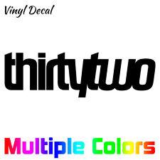 Thirtytwo Decal - 32 Snowboard Sticker Vinyl Die Cut Thirty Two