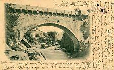 Italy Austria Merano Meran - Zenonbrucke 1898 NYC Cover due auxiliary postcard