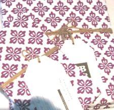 POTTERY BARN Cloverfield Plum Purple Duvet Cover Full/ Queen + 2 Pillowcases NWT