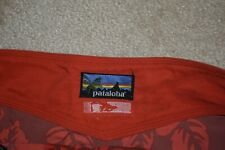 PATAGONIA PATALOHA Men's Unlined 100% Nylon Board Shorts Red Floral Size 34