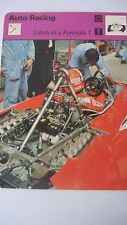 SPORTSCASTER RENCONTRE COLLECTABLE CARD  AUTO RACING SAFETY IN FORMULA 1