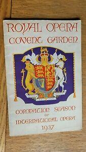 Royal Opera House Covent Garden Coronation Season of OPERA 1937 -  30's Fashion