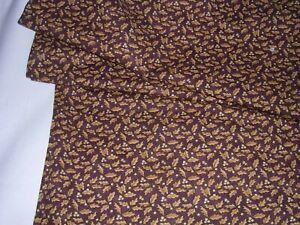 834J Sandy Gervais for MODA Cotton Quilt Fabric PHEASANT RUN Oak Leaf Acorn 3YDS