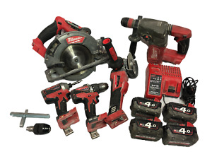 Milwaukee M18 Brushless Tool Kit SDS Drill, Grinder, Circular Saw, Drill, Driver