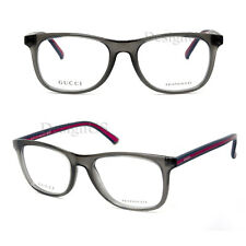GUCCI GG 1056 0WC Grey Blue Red 51/18/145 Eyeglasses Rx Made in Italy - New