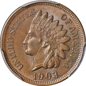 1903 Indian Cent PCGS MS64 BN Great Eye Appeal Strong Strike