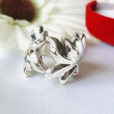 Thai 925 Sterling Silver Leaf Ring Size L