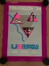 1989 U.S. Swim & Fitness Triathlon Poster