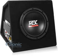 """New! MTX RTP8A 8"""" 120w RMS Powered Subwoofer In Vented Enclosure + Bass Remote"""