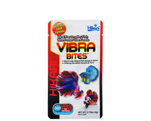 Hikari Vibra Bites BABY 5g Slow Sinking Worm-like Sticks Colour Enhancing Food