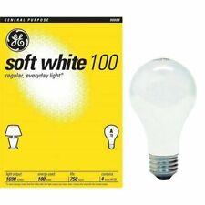 12  4  PackS - 100 WATT GE  SOFT WHITE LIGHT BULBS , 41036  48 TOTAL