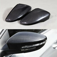 Carbon Fiber Replacment Side Rearview Mirror Cover Caps for VW Passat CC 2010-16