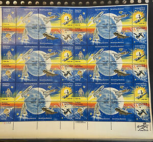 Stamp Sheet Benefiting Mankind, Exploring the Moon, Planets, Sun, 18 cents