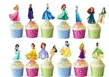 28 DISNEY PRINCESS COMMESTIBILE Cup Cake Fata DECORAZIONI PER Premium WAFER STAND UP