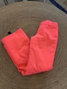 Nwot Spyder Women's Neon Coral Ski Pants Size 4