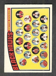 1976-77 CHICAGO BLACK HAWKS Team #136 NM+ OPC Unmarked CHECKLIST Key Hockey Card