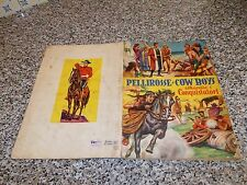 ALBUM PELLIROSSE E COW BOYS LAMPO 1954 COMPLETO MB/OTTIMO+CEDOLA TIPO WEST EDIS