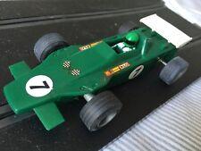 Vintage Francés Scalextric C27 Lotus Turbina Verde #7 F1 Fórmula Uno Sin Caja