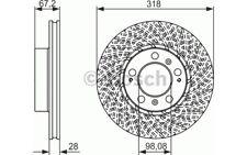 BOSCH Disco de freno (x1) 318mm ventilado PORSCHE 911 CAYMAN 0 986 479 550