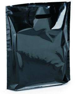 DKT Plastiktüten schwarz, 38x45cm, 50my, Tragetaschen Shopper Beutel Tüte farbig