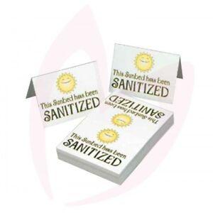 Tanning Salon Sunbed Sanatised Signs Foldable Cards Multi Packs