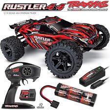 Traxxas 67064-1 Rustler 4x4 rendimiento Estadio Camión, escala 1/10, 4WD, Rojo