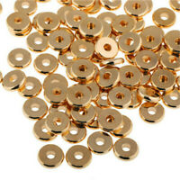 12 Size Gold Solid Brass Disc Spacer Washer beads Flat Spacer Beads Jewelry DIY