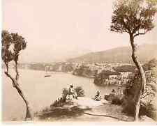 Sommer. Italie, Sorrento Vintage albumen print  Tirage albuminé  20x25  18