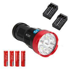 Original SKYRAY 20000Lm 10x CREE XM-L R8 LED Taschenlampe Lampen 4x18650 Akkru