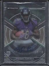 BRESHAD PERRIMAN 2015 TOPPS STRATA GREEN ON CARD ROOKIE AUTO RC #D 13/75